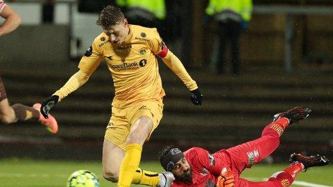 Bodø/Glimt-spiss Kasper Junker jakter toppscorertittelen i Eliteserien i år.