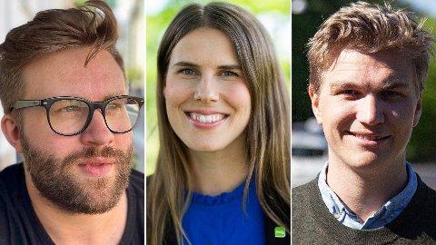 MDGs Sirin Stav mener høyresiden, med blant annet Stefan Heggelund (t.v.) og Nicolai Øyen Langfeldt, opptrer som politiske bløffmakere overfor beboerne blant annet på Manglerud.
