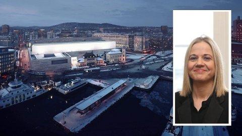 Direktør Karin Hindsbo vil tydeligvis ha minst mulig snakk om hva hennes årlige 881 driftsmillioner i et stengt Nasjonalmuseum brukes til.