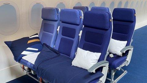 Lufthansas nye produkt «Sleeper's Row».