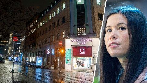 SIER NEI: Byråd for miljø- og samferdsel i Oslo, Lan Marie Berg (MDG), bare avfeier Frps forslag om gratis parkering i hovedstaden før jul for å redde handels- og serveringsbransjen.