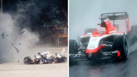 Ayrton Sennas dødelige krasj i 1994 og Jules Bianchis siste løp før han omkom i racerbilen tjue år senere.