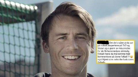 Carl-Erik Torp er fotballekspert for NRK. Han synes ikke noe om enkeltes holdning overfor kvinnefotball. Foto: Privat