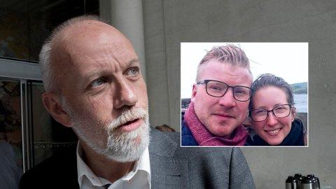 ERSTATNING: Kristian og Julie Erbs (t.h.) vil sitte igjen med fem millioner kroner i gjeld, og null verdier om ikke erstatningsordningen for pelsbønder blir endret. – Jeg blir så forbanna, sier Frps Morten Ørsal Johansen (t.v.).