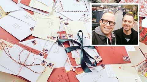 Jim Glaub og Dylan Parker har i årevis mottatt brev som egentlig skulle til julenissen.