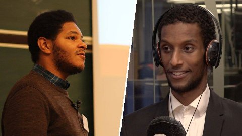 KRITISK: Student Michael Melbye (til venstre) mener Rasisme i Norge og Jamal Sheik fokuserer på helt feil problemstillinger knyttet til rasisme.