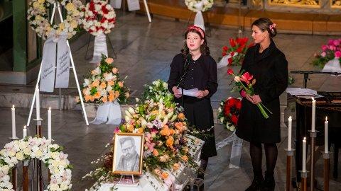 HYLLET: Maud Angelica Behn har blitt overøst med hedersord etter talen hun holdt i begravelsen til sin egen far, Ari Behn.