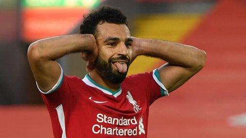 Mohamed Salah har scoret tre mål på de fire siste kampene. Vi tror han kommer på scoringslisten igjen i søndagens kamp mot Fulham.