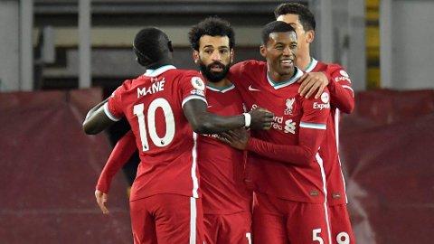 FRA START: Salah spiller fra start mot Fulham.