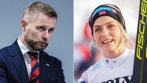 I SENTRUM: Bent Høie og Therese Johaug.