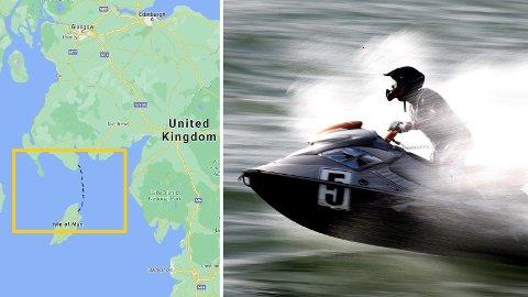 En mann er arrestert etter å ha kjørt vannscooter fra Skottland til Isle of Man for å møte kjæresten. Illustrasjonsfoto.