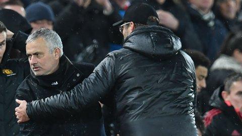 Jose Mourinho har en elendig statistikk på bortebane mot lag som er ledet av Jurgen Klopp.