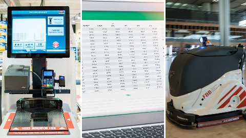 AUTOMATISERING: En rekke yrker vil bli stadig mer automatisert de neste årene. Det vil bli mer selvbetjente kasser i butikkene, regnskapsføreres jobb automatiseres, og det blir mer bruk av rengjøringsroboter i stedet for renholdere.
