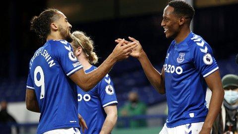 Everton (her representert ved Dominic Calvert-Lewin og Yerry Mina) møter Manchester United i den kvartfinalen i den engelske ligacupen hjemme på Goodison Park onsdag kveld.