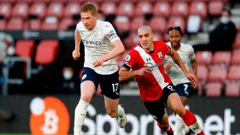 Manchester Citys Kevin De Bruyne i aksjon mot Southampton forrige helg.
