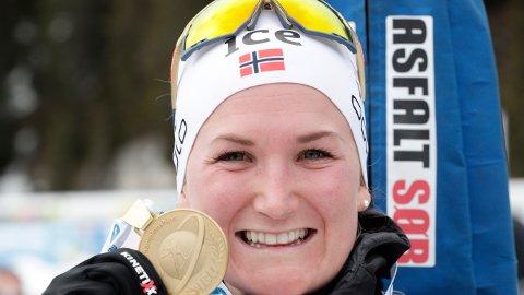 VERDENS BESTE: Marte Olsbu Røiseland tok gull etter fellesstart 12,5 km kvinner under VM i skiskyting 2020 i Anterselva.