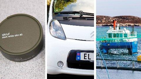 KUTT OG STRAMMERE REGLER: Det blir billigere med snus, elbileiere i borettslag får en lovfestet laderett, og det blir litt strammere regler for utenlandske turistfiskere i Norge i 2021.