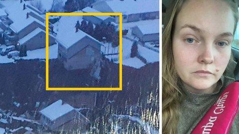MISTET HUSET: Huset til Christina Brenden og familien er ubeboelig etter jordraset natt til onsdag. Skredet tok med seg garasjen og deler av uteområdet.