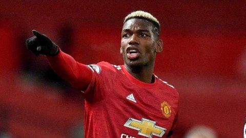 Paul Pogba under Manchester Uniteds kamp mot Aston Villa 1. januar. Franskmannens fremtid på Old Trafford ser ut til å være usikker.