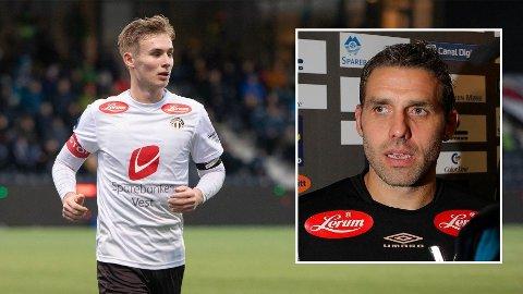 ETTERTRAKTET: Flere medier melder at Sogndals Sivert Mannsverk jaktes av en rekke storklubber. Sportssjef Håvard Flo (til høyre) tar det hele med stoisk ro og en klype salt.