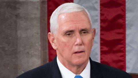 TOK GREP: USAs visepresident Mike Pence tok avgjørelsen om å sende inn nasjonalgarden da opprøret fant sted.