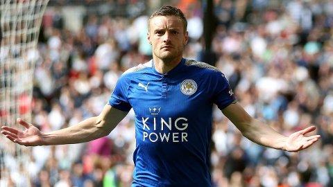 MÅLKONGE: Jamie Vardy fortsetter å pøse inn mål i Premier League.