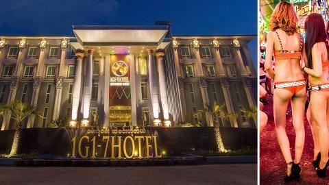 Thailands prostitusjonsscene er beryktet (bildet til høyre). Flere kvinner strømmet over grensen til hotellet 1G1-7 i Myanmar og tok med seg smitte tilbake til Thailand.