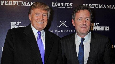 NÆRE VENNER: Donald Trump og Piers Morgan har vært venner siden 2007.