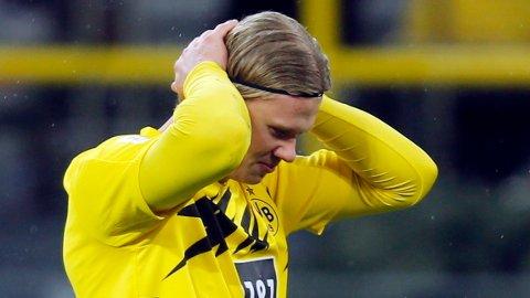 Erling Braut Haaland står uten mål i de to siste Bundesliga-kampene han har spilt. Vi tror han er tilbake på scoringslisten i lørdagens storkamp mot Leipzig.