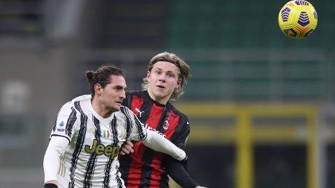 Jens Petter Hauge var anonym i onsdagens kamp motAdrien Rabiot og Juventus.