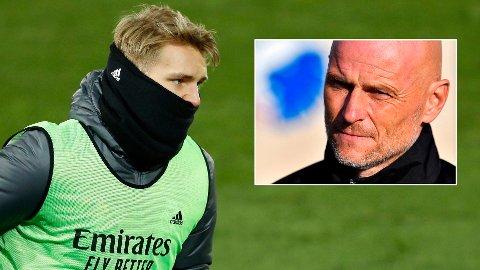 IKKE BEKYMRET: Ståle Solbakken tror Martin Ødegaard vil få mye spilletid i perioden som kommer. Landslagssjefen sier til Nettavisen at han mener Ødegaard har tatt fysiske og mentale steg i det siste.
