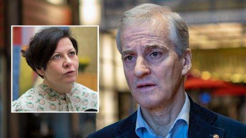 UROLIG: Helga Pedersen mener bare høyresiden vil tjene på en lederdebatt i Arbeiderpartiet og freder Jonas Gahr Støre før høstens stortingsvalg.