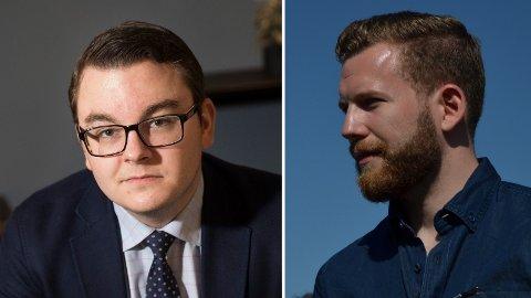 JOURNALISTER: Espen Teigen og Henrik Heldahl utgjør deler av den politiske avdelingen til Nettavisen framover.