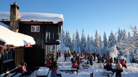 Ruter ber nok en gang turfolk å droppe kollektivtransport i helgen. Her fra Skjennungstua i Nordmarka søndag 3. januar 2021.