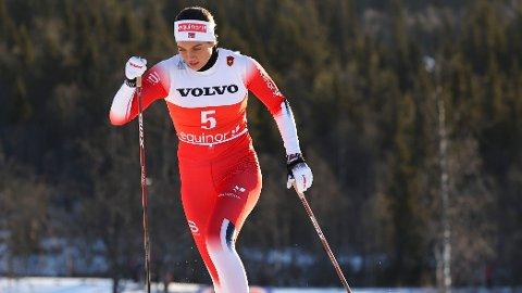 LANGT BAK: Kristine Stavås Skistad havnet langt bak i prologen under NM-sprinten i Granåsen. Her fra sesongåpningen på Beitostølen.