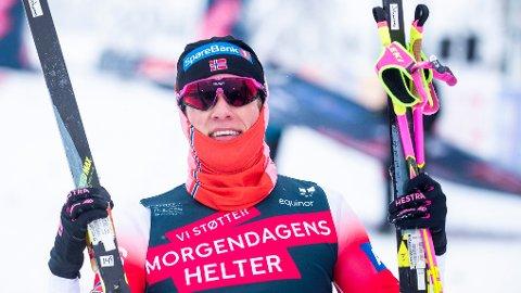 TOK GULL: Johannes Høsflot Klæbo tok NM-gull på sprint lørdag formiddag. Her fra sprint i norgescupen forrige uke.