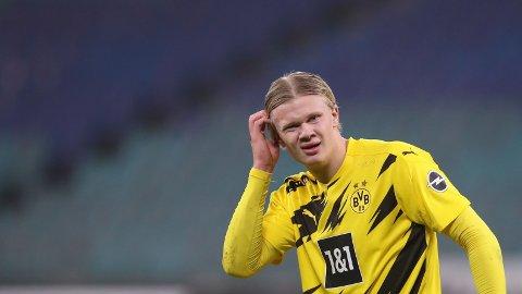 FRA START: Erling Braut Haaland starter mot Mainz.