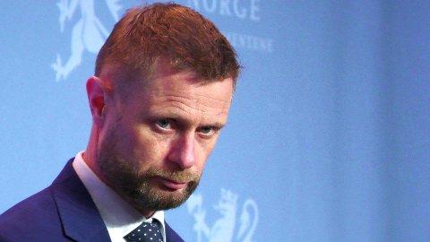 Helseminister Bent Høie, 13. januar 2021.