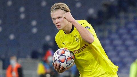 Erling Braut Haaland har scoret 25 mål i Bundesliga så langt.