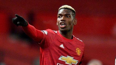 I AKSJON: Paul Pogba under Manchester Uniteds kamp mot Aston Villa 1. januar.