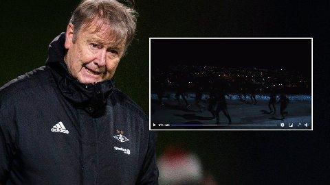 MØRKT: Ser du RBK-spillerne i mørket? Nå får de kjeft for manglende bruk av refleksvest på joggetur.