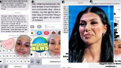 GJØR NARR: Isabel Raad har tatt til sosiale medier for å svare på kritikken hun har motatt. Da mediene tok kontakt gjør hun narr og ber journalistene «skrive noe mer givende».