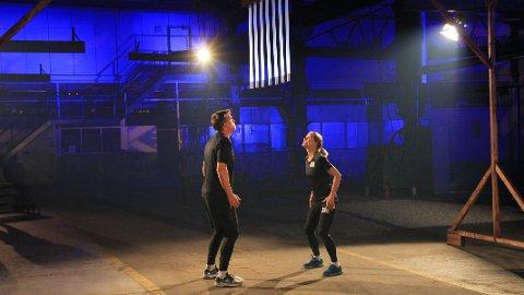 NATTEST: Johann Olav Koss og Linda Medalen møttes i nattest etter en uke med utholdenhetskonkurranser.