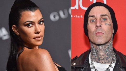 FLØRT: Flere amerikanske medier vil ha det til at Kourtney Kardashians nye flamme er trommisen Travis Barker.
