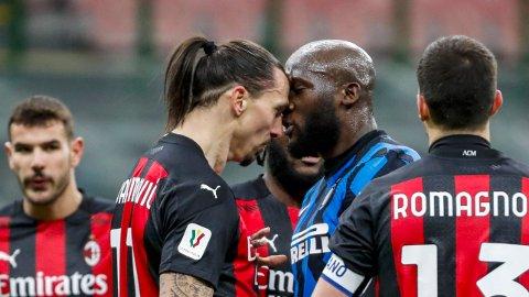AMPERT: Det var alt annet enn god stemning mellom Zlatan Ibrahimovic og Romelu Lukaku under tirsdagens Coppa Italia-møte.