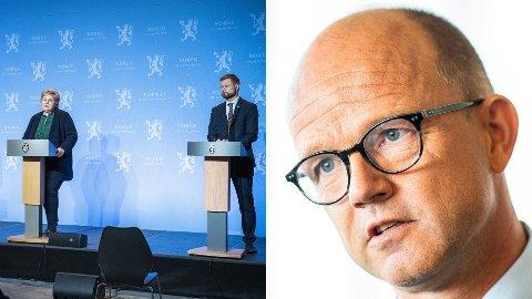 NHO-direktør Ole Erik Almlid sier det kan bli dramatisk for næringslivet om de nye innreisereglene vil vare lenge.