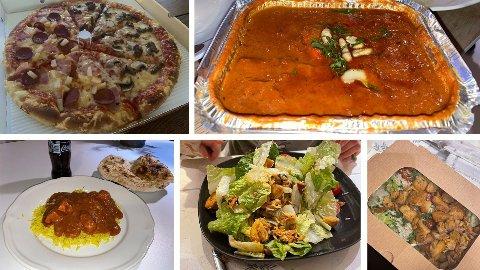 Take Away fra forskjellige restauranter.