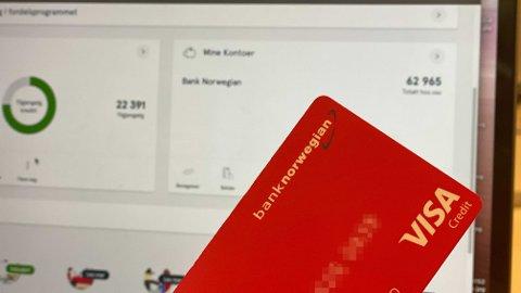 INGEN CASHPOINTS: Nå får du ikke lenger cashpoints når du bruker kredittkortet fra Bank Norwegian.
