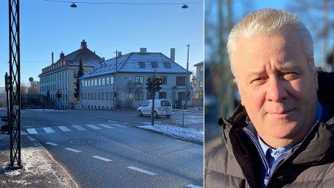GRENSEN: Ved dette krysset går grensen for nullutslipp i Oslo. Innenfor Ring 2 ønsker flertallet å innføre forbud mot bensin- og dieselbil.