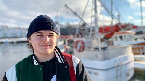 FØLGER DRØMMEN: Helt siden han fikk prøve seg som rekefisker i Oslofjorden under arbeidsuken på 9. trinn, har Per Theodor Magnussen Halvorsen drømt å bli fisker.